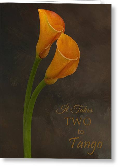 It Takes Two To Tango With Message Greeting Card