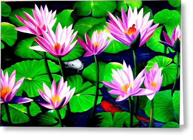 It Was Just Like A Lotus Flower Unfolding  Greeting Card by Yuki Othsuka