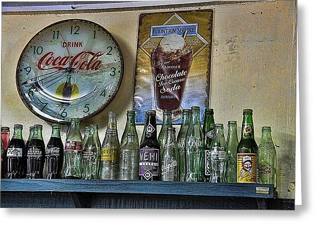 It Was Time For A Drink Greeting Card by Jan Amiss Photography