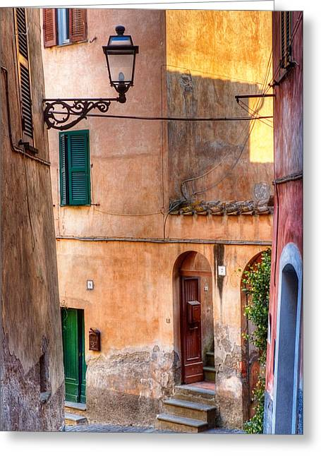 Silvia Ganora Greeting Cards - Italian alley Greeting Card by Silvia Ganora