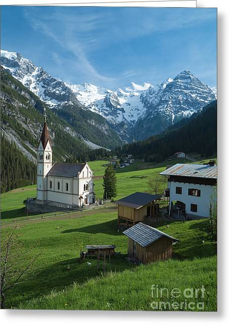 Italian Alps Hidden Treasure Greeting Card