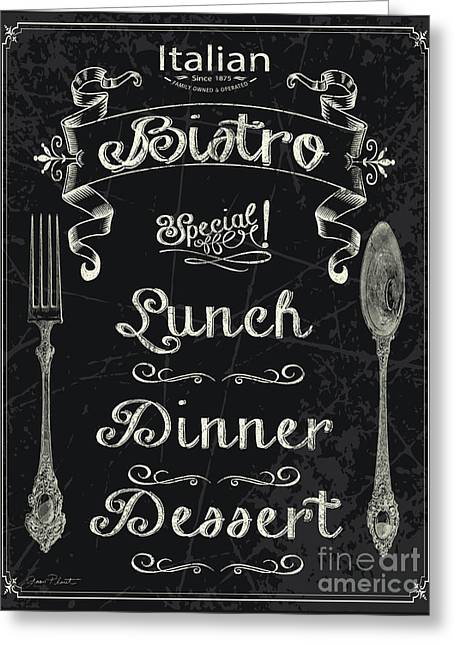 Italian Bistro Menu-jp3044 Greeting Card by Jean Plout