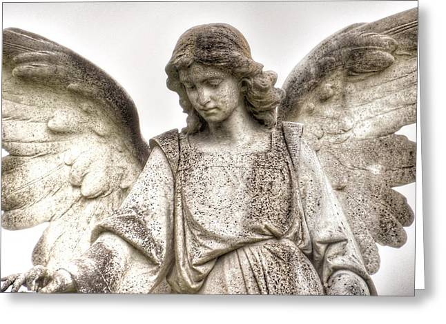 Italian Cemetery Angel Greeting Card by Gia Marie Houck