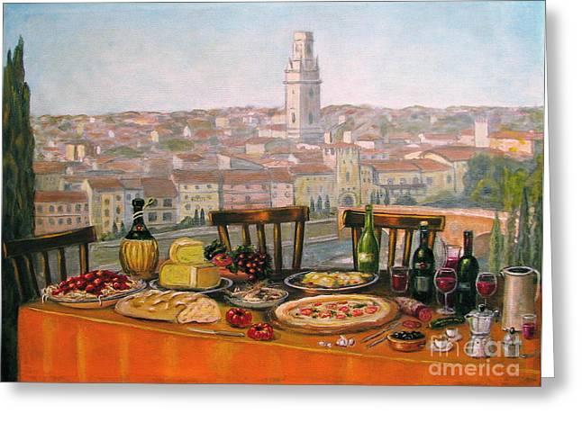 Italian Cityscape-verona Feast Greeting Card