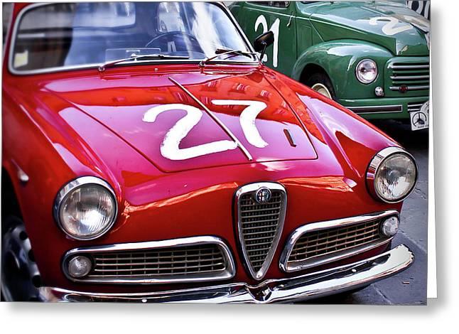 Italian Classics Alfa Romeo Greeting Card by Patrick English