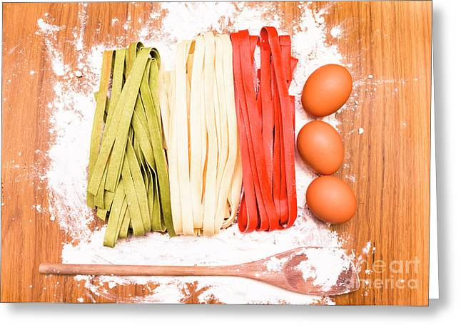 Italian Cooking Greeting Card by Jorgo Photography - Wall Art Gallery