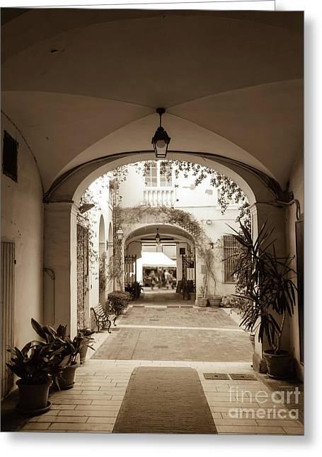 Italian Courtyard  Greeting Card