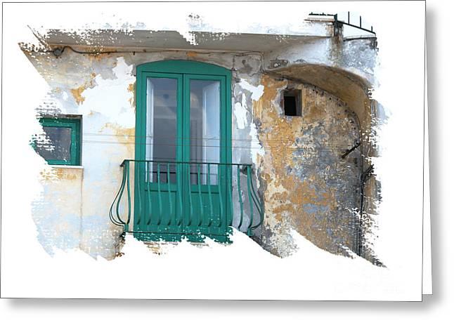 Italian Doors Greeting Card by Jim Wright