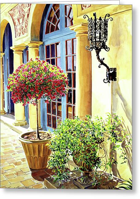 Italian Elegance Greeting Card by David Lloyd Glover