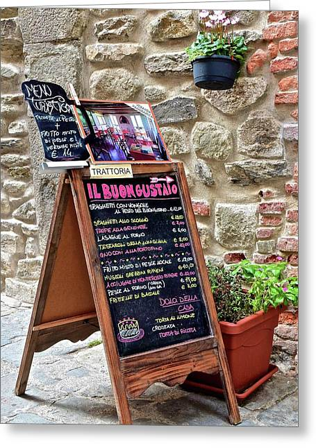 Italian Food Greeting Card by Frozen in Time Fine Art Photography