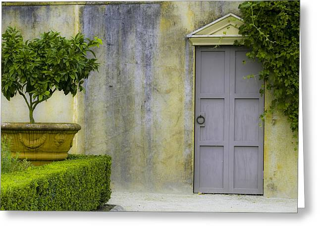 Outlook Greeting Cards - Italian Garden Greeting Card by Karen Lewis