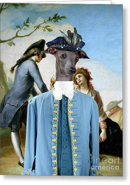 Italian Greyhound Art Canvas Print - The Gift Greeting Card