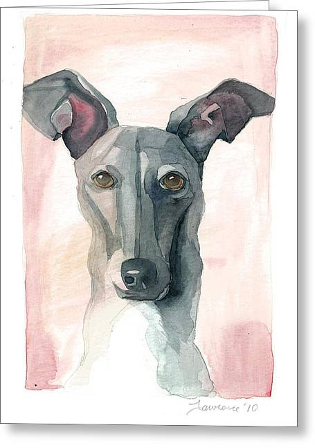 Italian Greyhound Greeting Card by Mike Lawrence