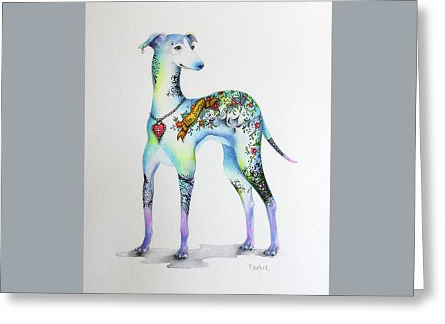Italian Greyhound Tattoo Dog Greeting Card