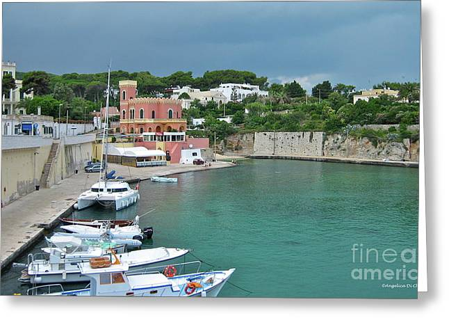 Italian Harbor - Puglia Greeting Card by Italian Art