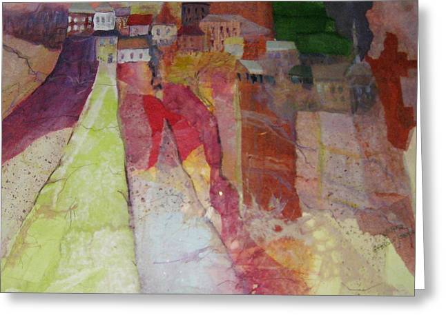 Italian Hill Town Greeting Card