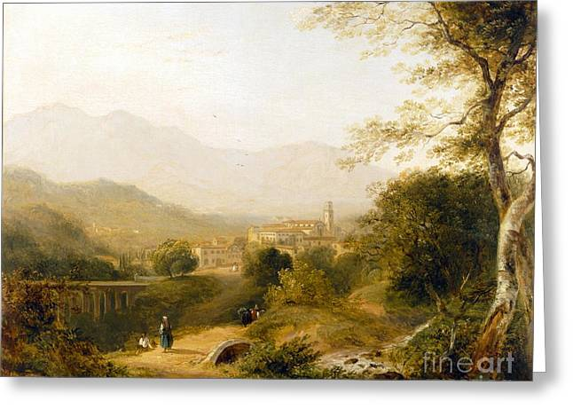 Italian Landscape Greeting Card by Joseph William Allen