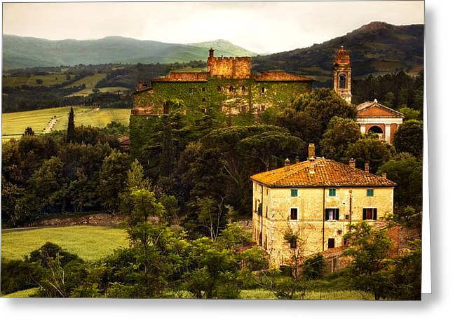 Italian Castle And Landscape Greeting Card