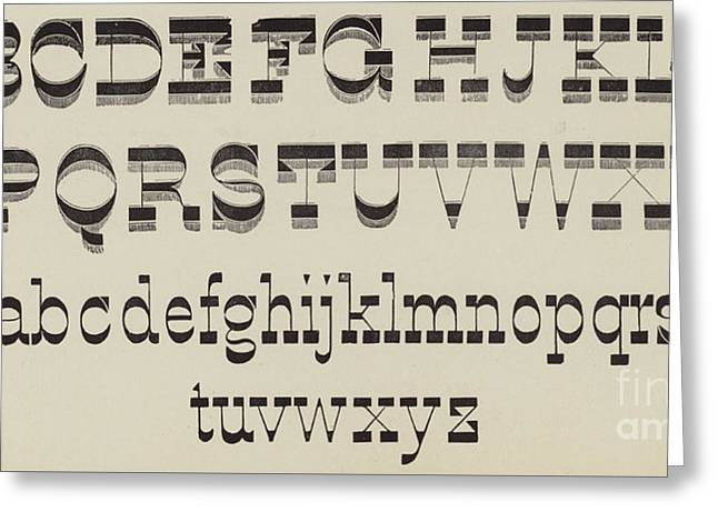 Italian, Large And Small Classic Font Greeting Card by English School