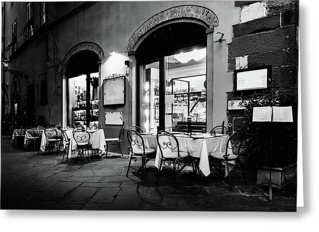 Italian Restaurant In Lucca, Italy Greeting Card