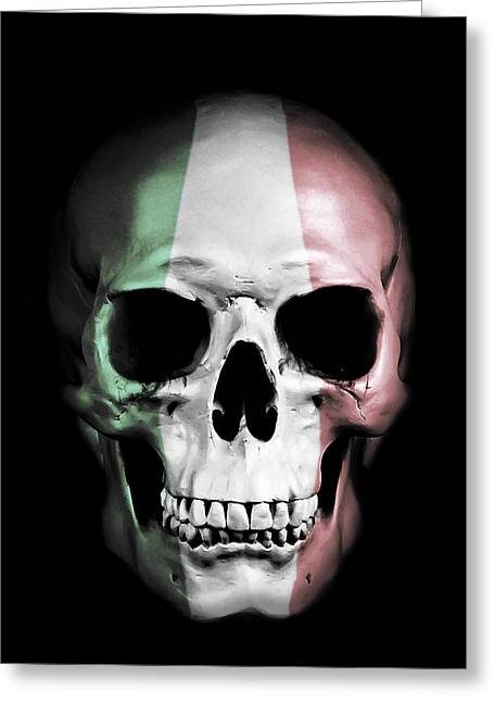 Italian Skull Greeting Card by Nicklas Gustafsson