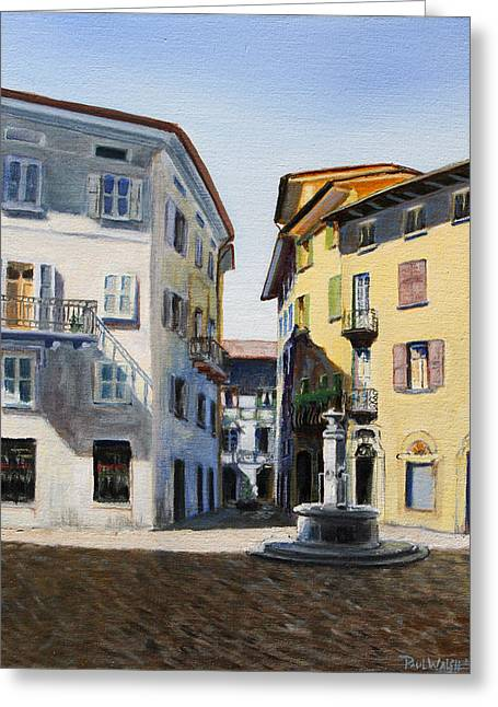 Italian Street Greeting Card by Paul Walsh