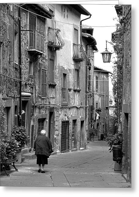 Italian Stroll Greeting Card by Valentino Visentini