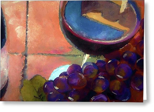 Italian Tile And Fine Wine Greeting Card