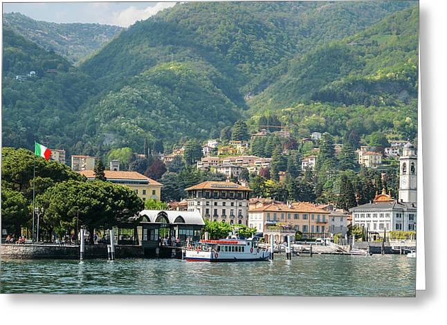 Italian Village On Lake Como Greeting Card