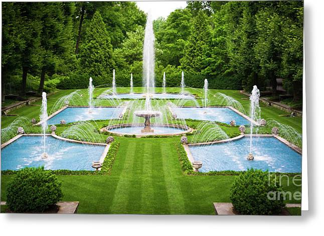 Italian Water Gardens Longwood Gardens Greeting Card