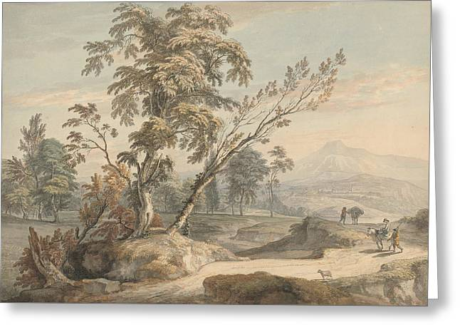 Italianate Landscape With Travellers No. 2 Greeting Card