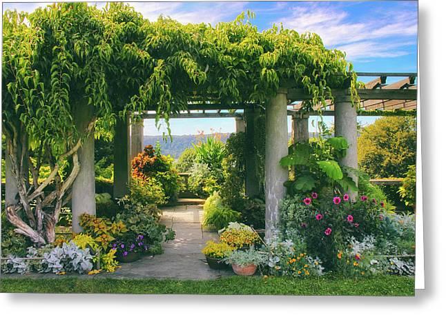 Italianate Terrace Greeting Card by Jessica Jenney