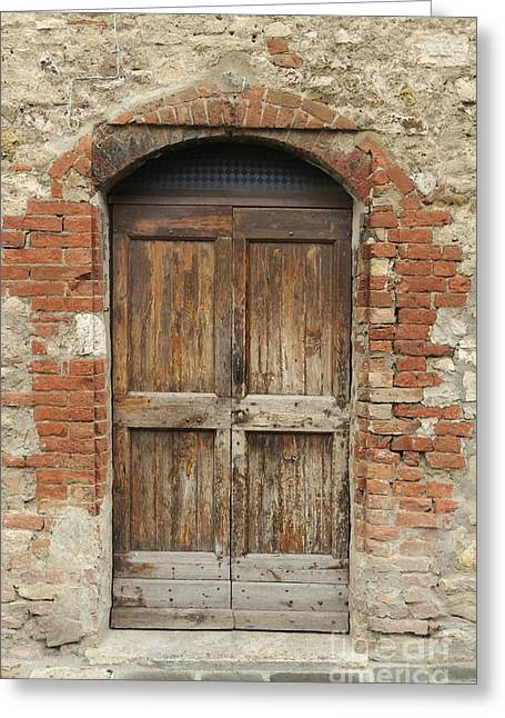 Italy - Door Eleven Greeting Card by Jim Benest