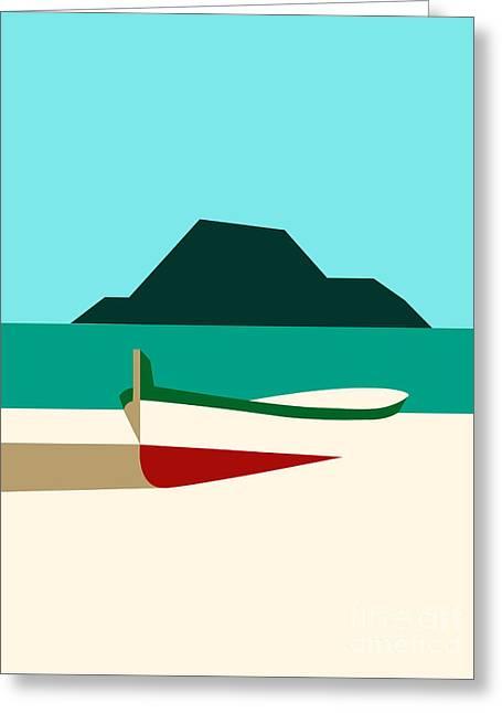 Italy Boat Greeting Card