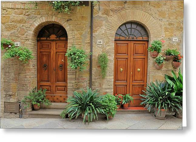 Italy - Door Seventeen Greeting Card