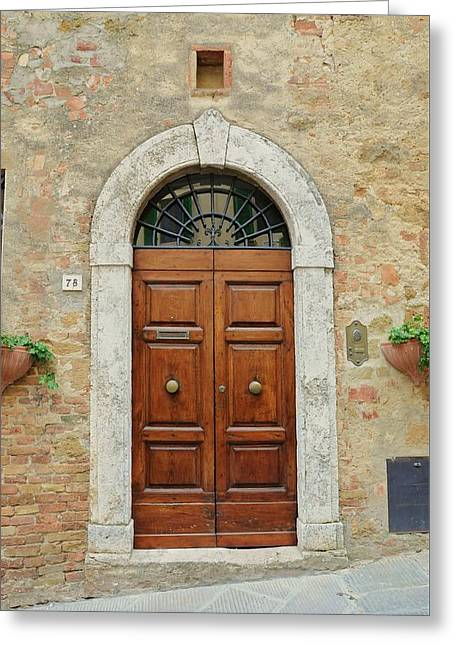 Italy - Door Twelve Greeting Card