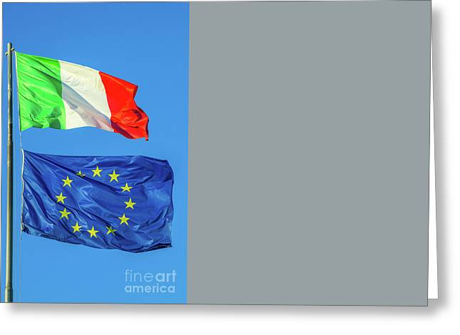 Italy Europe Flag Greeting Card