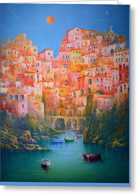 Impressions Of Italy   Greeting Card