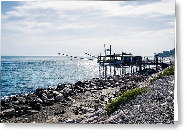 Italy - The Trabocchi Coast 2  Greeting Card by Andrea Mazzocchetti