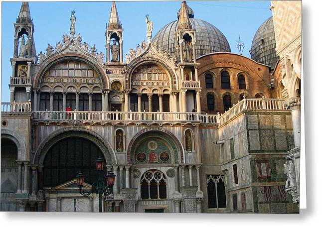 Italy Venice Doges Palace Greeting Card by Yvonne Ayoub