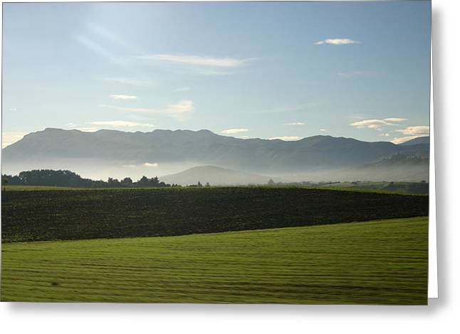 Italy's Country Side Greeting Card by Dennis Curry