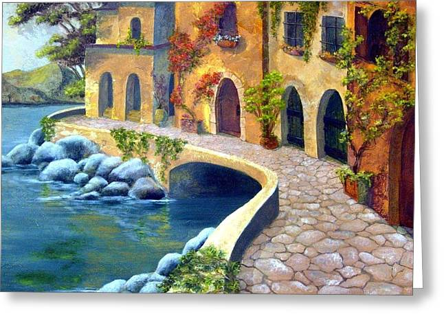 Italy's Hues 2 Greeting Card by Leslie Rhoades