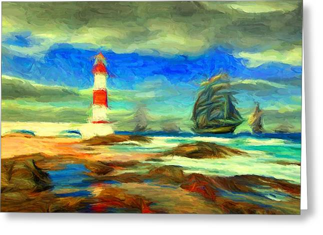 Itapua Lighthouse 1 Greeting Card