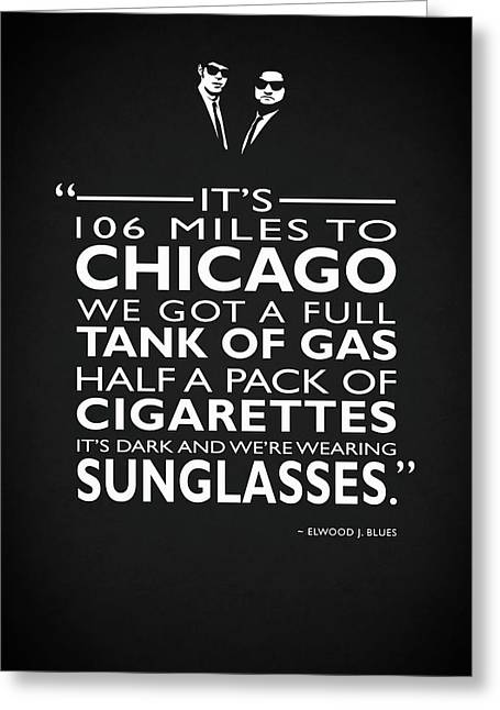 Its 106 Miles To Chicago Greeting Card by Mark Rogan