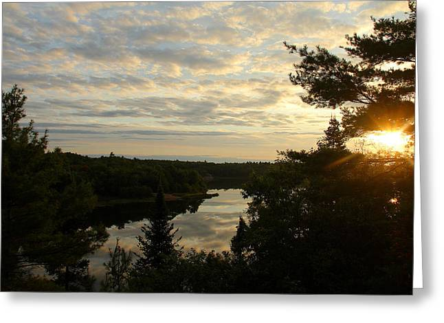 It's A Beautiful Morning Greeting Card by Debbie Oppermann