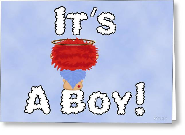 It's A Boy Annoucement Card5 Greeting Card by Chere Lei
