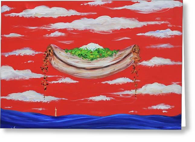 It's A Happy Enchilada And You Think You're Gonna Drown Greeting Card by Art Enrico
