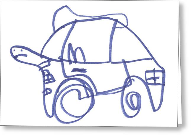 It's A Turtle Car Greeting Card