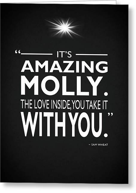 Its Amazing Molly Greeting Card by Mark Rogan