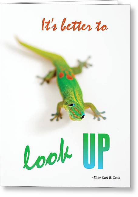 Its Better To Look Up Greeting Card